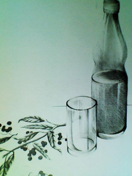 bild flasche glas zeichnungen stillleben von rimmel bei kunstnet. Black Bedroom Furniture Sets. Home Design Ideas