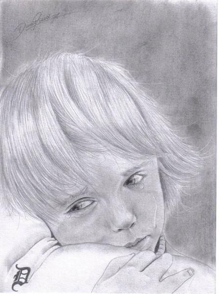 Tränen, Zeichnen, Zeichnung, Weinen, Traurig, Kind