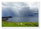 Landschaft, Regenbogen, Regen, Sturm