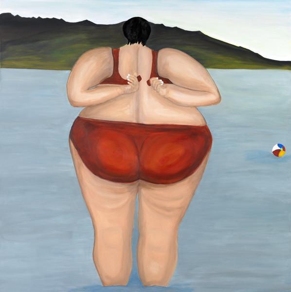 Strand, Dicke frau, See, Urlaub, Meer, Humor