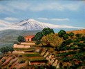 Sicilien, Landschaft, Berge, Malerei
