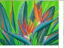 Blumen, Malerei, Pflanzen, Grün