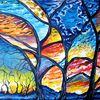 Licht, Malerei, Acrylmalerei, Mond