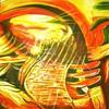Traum, Acrylmalerei, Rot, Gelb
