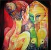Tanz, Spiegel, Acrylmalerei, Menschen
