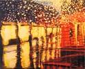 Regen, Acrylmalerei, Licht, Stadtansichten