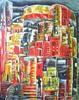 Stadt, Abstrakt, Steinland, Acrylmalerei
