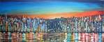 Stadt, Abstrakt, Stadtansicht, Malerei