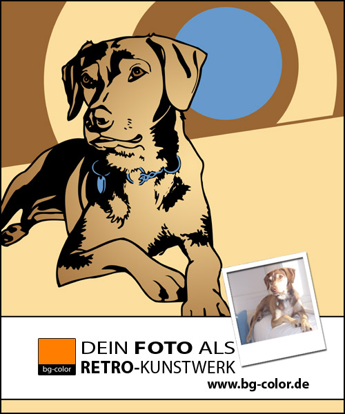 Hundeportrait, Lounge, Design, Seventies, Geschenktipp, Illustration