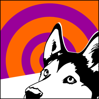 Retro, Hundeportraits, Husky, Tierportrait, Pop art, Sibirisch