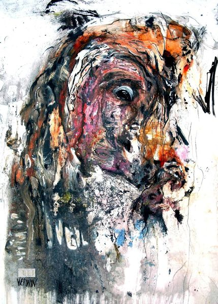 Blick, Augen, Reflex, Kopf, Tiere, Malerei
