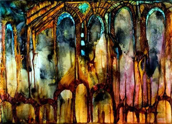 Malerei, Abstrakt, Tempel