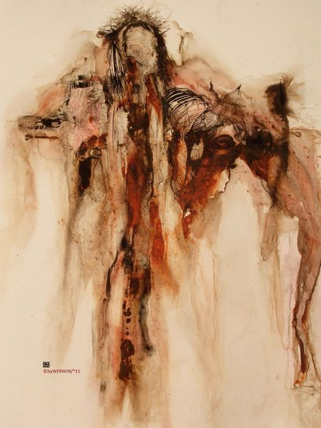 Menschen, Pferde, Zerstörung, Apokalypse, Malerei,
