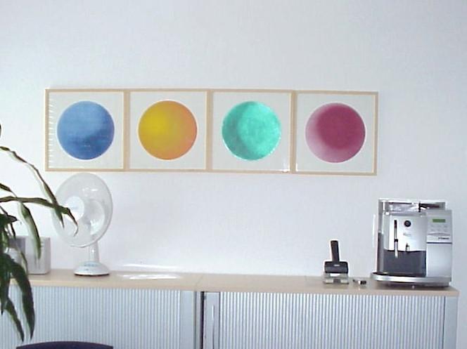 Farbfeldmalerei, Colourfield, Malerei, Fundstücke, Installation,