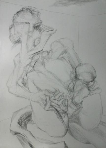 Figurativ, Surreal, Geburt, Schwangerschaft, Frau, Zeichnungen