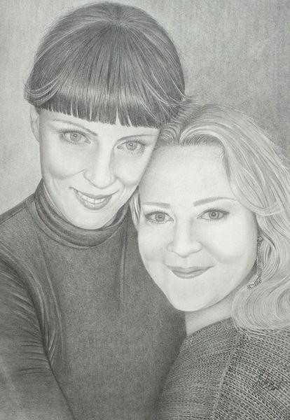 Haare, Junge frauen, Portrait, Zeichnungen
