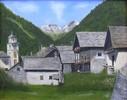 Malerei, Südtirol, Bergdorf