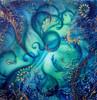 Malerei, Abstrakt, Blau, Struktur