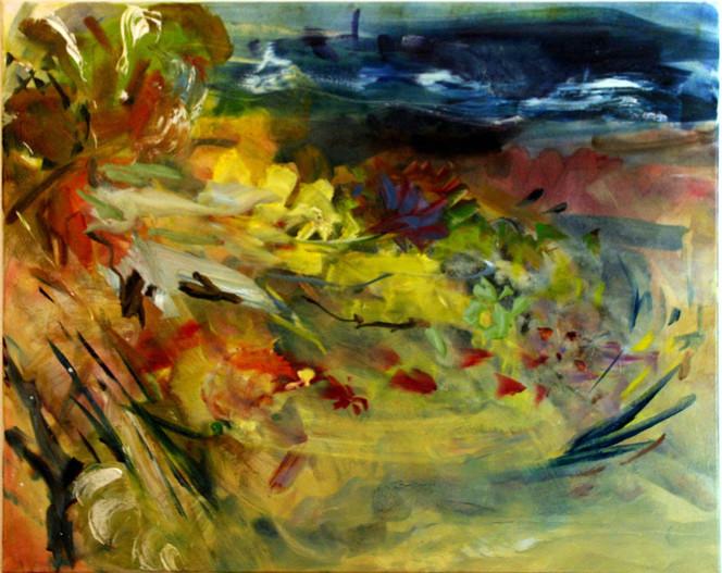 Malerei, Abstrakt, Landschaft, Blumen