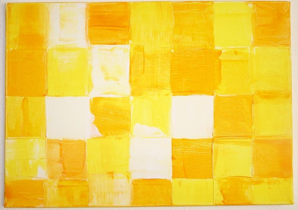 gelbe quadrate bild kunst von gdkart bei kunstnet. Black Bedroom Furniture Sets. Home Design Ideas