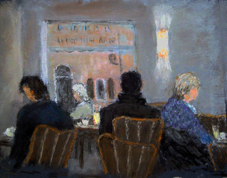 Menschen, Café, Malerei
