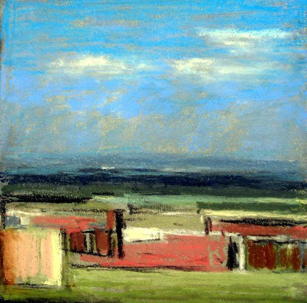 Weite, Himmel, Landschaft, Abstrakt, Malerei