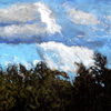 Baum, Wolken, Licht, Malerei