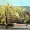 Baum, Menschen, Frühling, Fluss