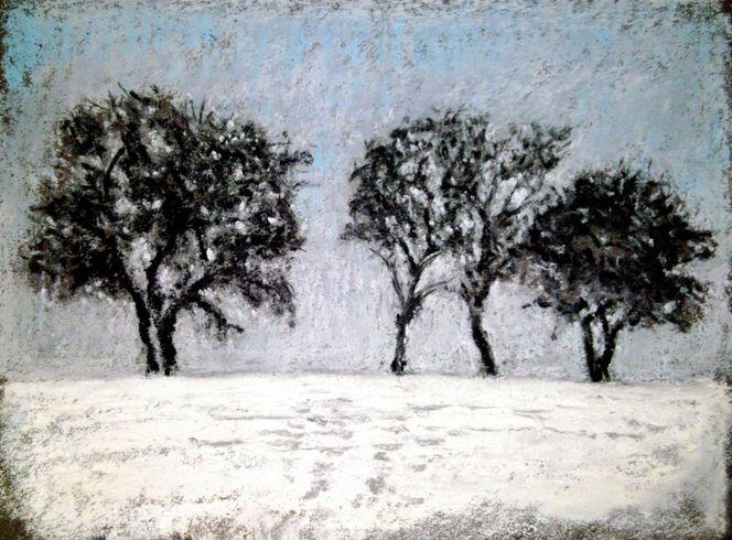 Winter, Baum, Malerei