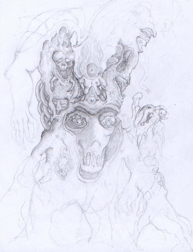 baum -unvollständig- - zeichnung, baum, skizze, surreal von merlins