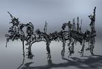 Buchholz, Skulptur, Edelstahl, Laserschnitt