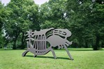 Skulptur, Laserschnitt, Osten, Park