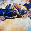 Katze, Traum, Malerei