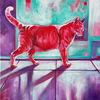 Katze, Rot, Kater, Malerei