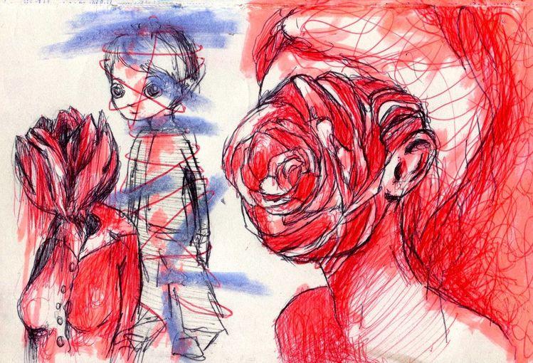 Kinderkacke, Zeichnungen,
