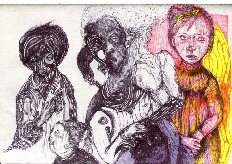Sketc, Hb°°k, Asion, Zeichnungen,