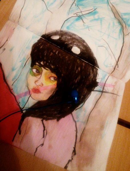 Gute nacht, Akku 9prozent, Zeichnungen,
