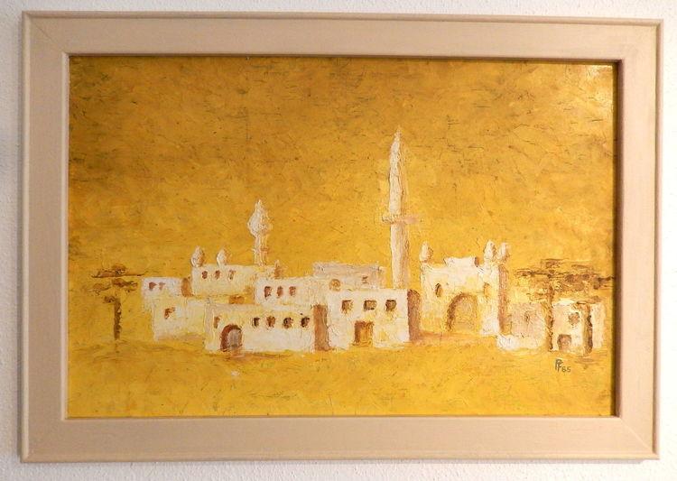 Ölmalerei, Gemälde, Landschaft, Spachteltechnik, Orient, Stimmung