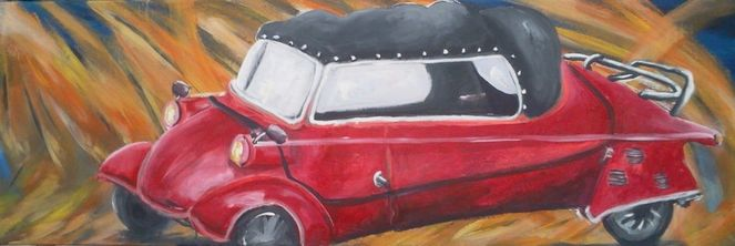 Auto, Messerschmidt, Malerei, Ziel, Schnecke