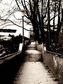 Fotografie, Treppe, Going