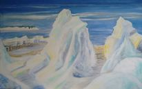 Ostsee, Wolken, Eisschollenberge, Eisberg