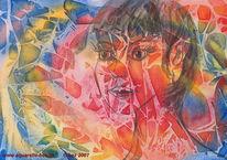 Gesicht, Aquarellmalerei, Elfen, Grafik