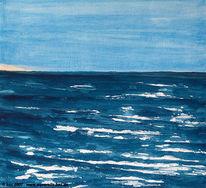 Strand, Urlaub, Aquarellmalerei, Landschaft
