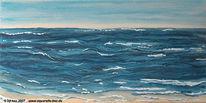 See, Blau, Indigo, Aquarellmalerei