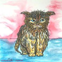 Katze, Grafik, Tiere, Portrait