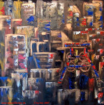 Ruhrgebiet, Pütt, Abstrakt, Malerei
