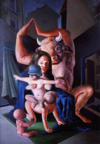 Familie, Figural, Malerei, Heilig