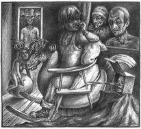 Kinderzimmer, Zeichnung, Kind, Figur
