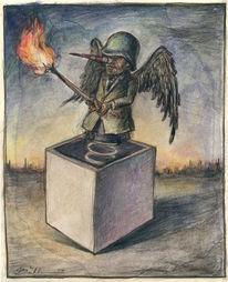 Feuer, Gesellschaftskritik, Figur, Zeichnung