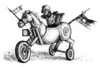 Pferde, Zeichnung, Trojanisch, Zeichnungen